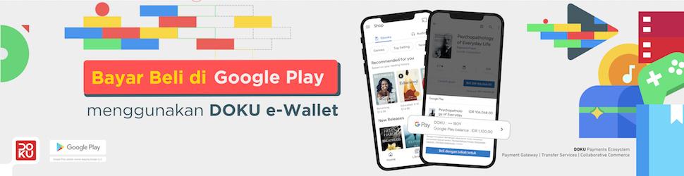 Bayar Beli di Google Play menggunakan DOKU e-Wallet